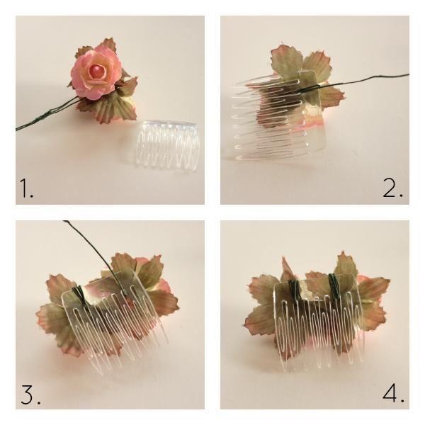Silk flower hair combs tutorial dana renee style flower hair combo diy tutorial mightylinksfo