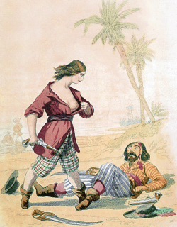 Mary Read reveals her sex to a vanquished enemy (1846)