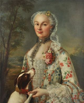 francois-hubert-drouais-french-1727-1775-portrait-of-a-lady-with-her-dog