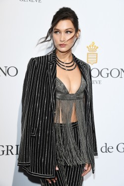 Bella Hadid attends the De Grisogono Party  at the annual 69th Cannes Film Festival at Hotel du Cap-Eden-Roc on May 17, 2016 in Cap d'Antibes, France.  (Photo by Venturelli/WireImage)