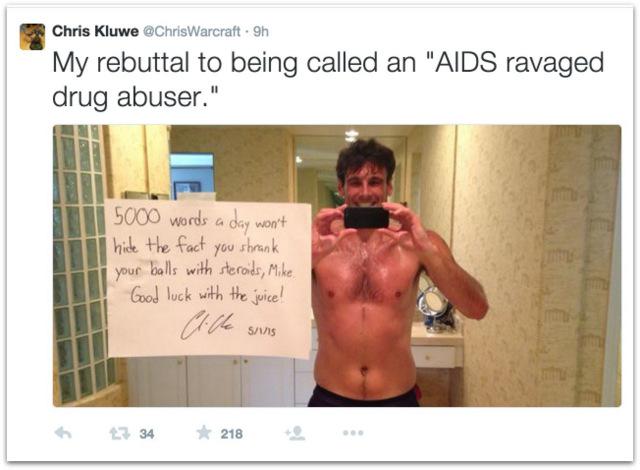 Chris Kluwe shirtless