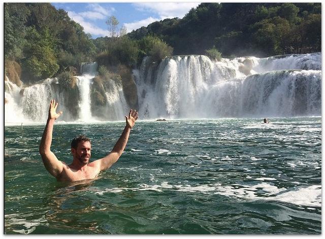 Mike Cernovich Croatia Waterfalls
