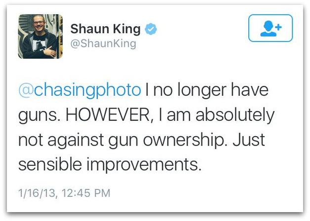 Shaun King Gun Tweets