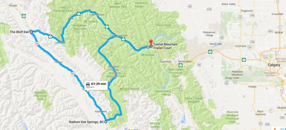 Day 31 Kootenay Map