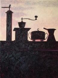 Contre-jour VII (Sunset Still Life) - oil on linen, 79x59.5cm, 2009