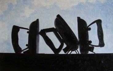 Contre-jour XVII (Irons) - oil on linen, 51x80cm, 2011