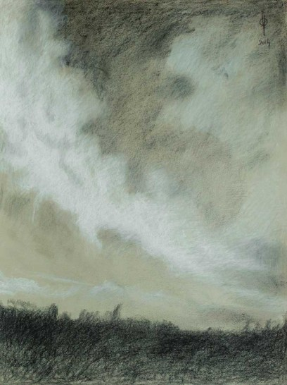 Sky 24 - pencil and charcoal on paper, 45.8x34.5cm, 2014