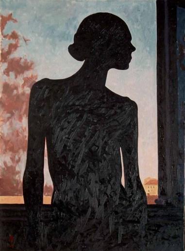 Contre-jour IV (diptych) - left panel, oil on linen, 81.5 x 60 cm, 2009