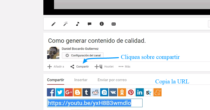 Cómo embeber un vídeo de youtube en WordPress