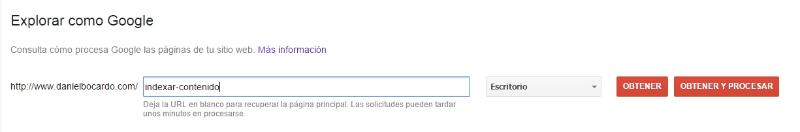 Indexar URL