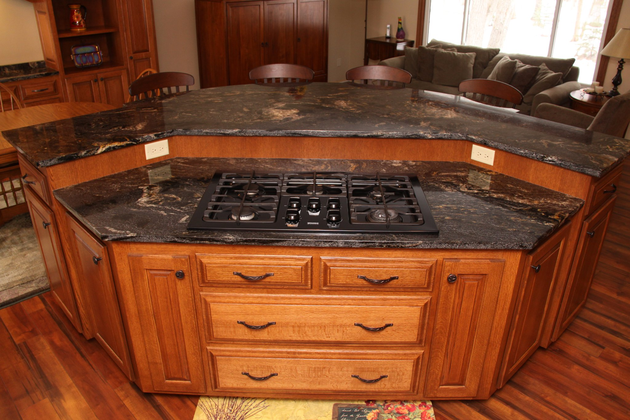 custom cabinets mn custom kitchen island kitchen island cabinets A Custom Kitchen Island With All The Bells and Whistles