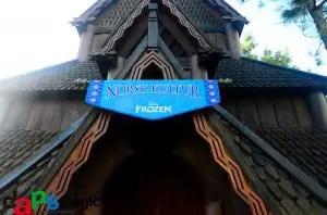 EPCOT stave church frozen