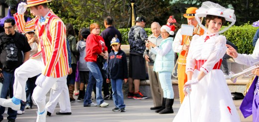 Mary Poppins & Bert with Pearly Band at Disneyland - December 14, 2014-5