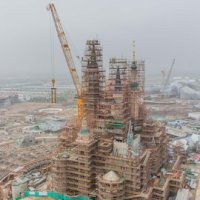 Golden Spire Tops Shanghai Disneyland Castle