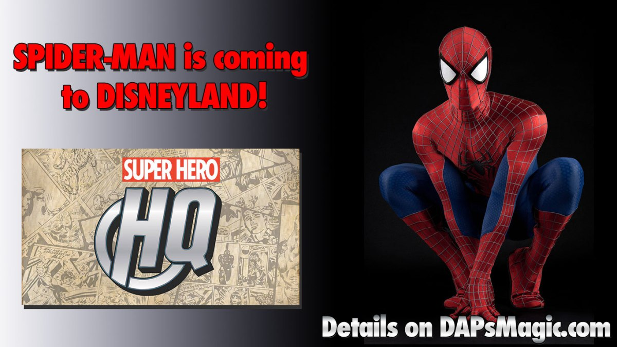 Spider-Man is Coming to Disneyland!