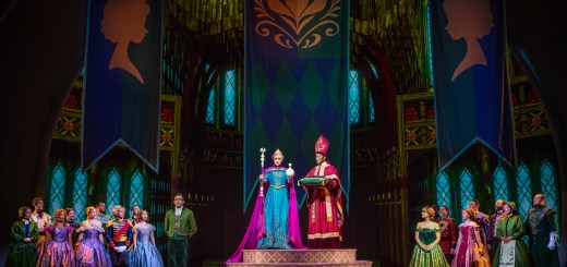 ELSA'S CORONATION IN 'FROZEN Ð LIVE AT THE HYPERION' -- A new theatrical interpretation for the stage based on DisneyÕs animated blockbuster film, Frozen is now playing at the Hyperion Theater at Disney California Adventure Park. The show immerses audiences in the emotional journey of Anna and Elsa with all of the excitement of live theater, including elaborate costumes and sets, stunning special effects and show-stopping production numbers. (Piotr A. Redlinski/Disneyland Resort)