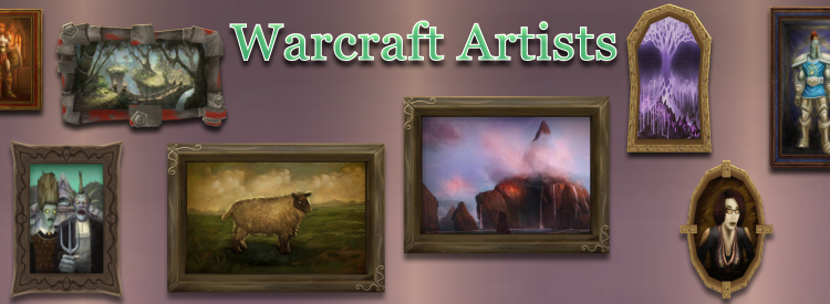 Art Gallery Banner shows paintings found in World of Warcraft