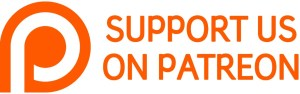 "Patreon logo with text ""Support Us On Patreon"""