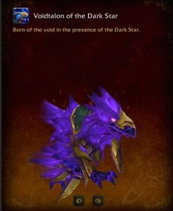 Picture of Voidtalon of the Dark Star from the Warcraft mount UI.