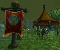 Banner and tent from Midsummer Fire Festival