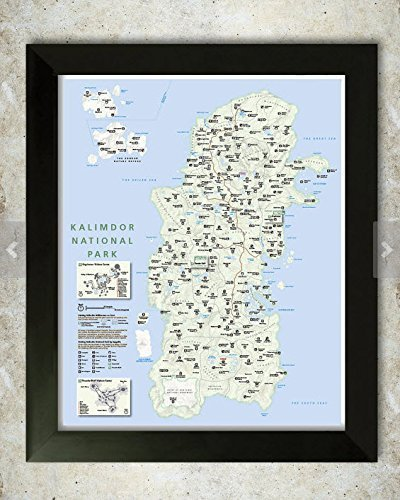 Kalimdor Map National Park Style Poster by KnerdKraft