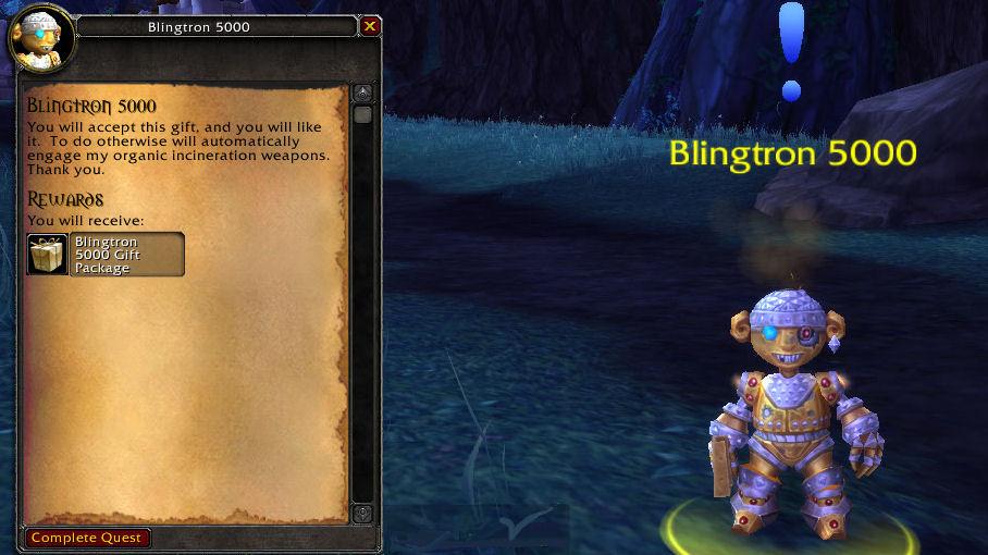 Blingtron quest text