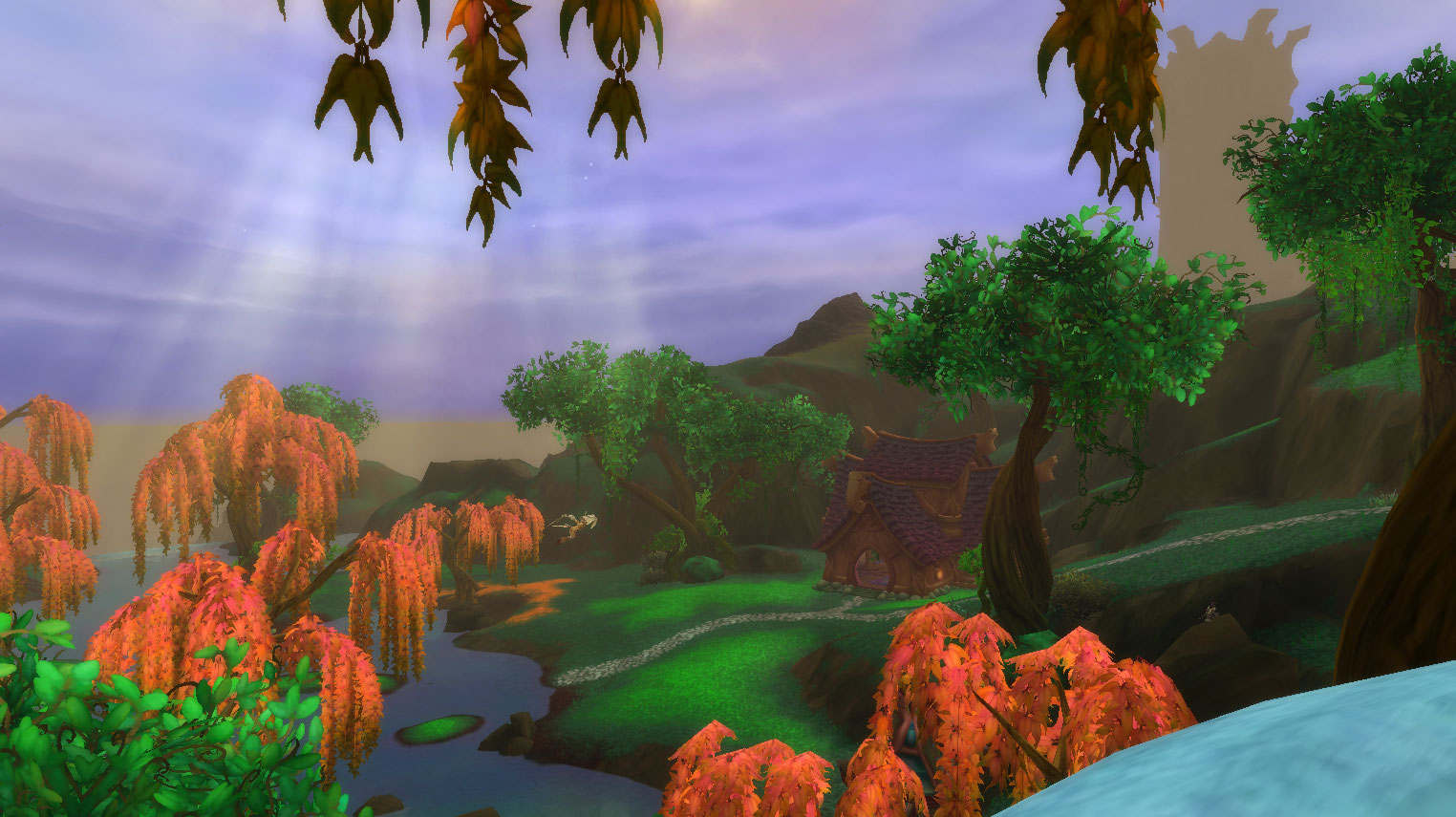 Screenshot from World of Warcraft Legion showing a photo of scenery.