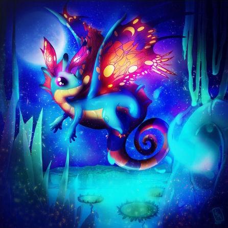 Fairy Dragon by Leassel