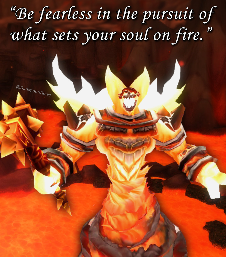 Moonfang has returned with more quotes to light your fire!