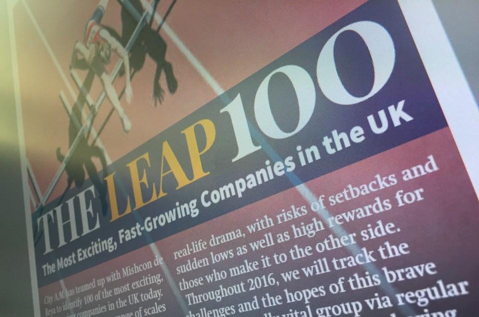 DA named in the City Am 'Leap 100'