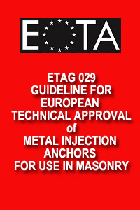 Guidelines for European Technical Approval ETAG 029