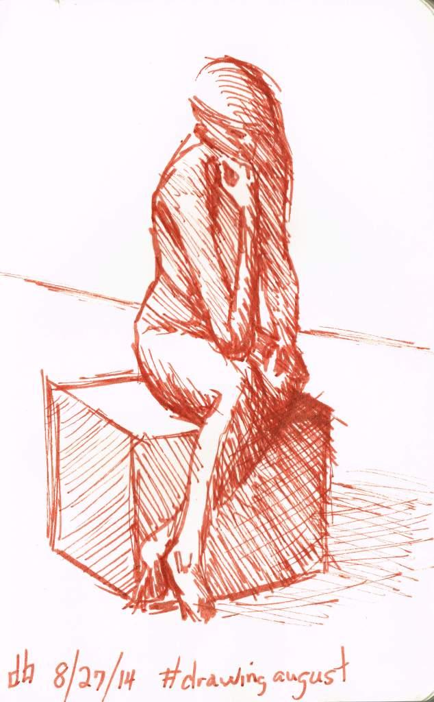#drawingaugust day27 human figure 9cm x 14cm