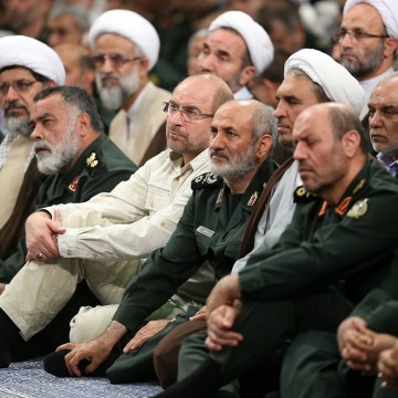 دیدار شرکتکنندگان در بیستودومین مجمع سراسری فرماندهان و مسئولان سپاه پاسداران انقلاب اسلامی