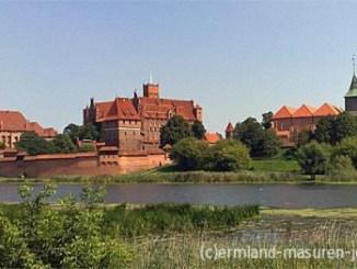 Die Marienburg (Malbork) an der Nogat, Foto: B.Jäger-Dabek