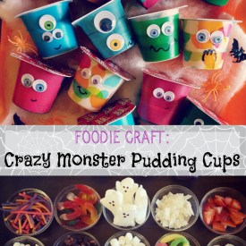 Fun Halloween Craft: Monster Pudding Cups