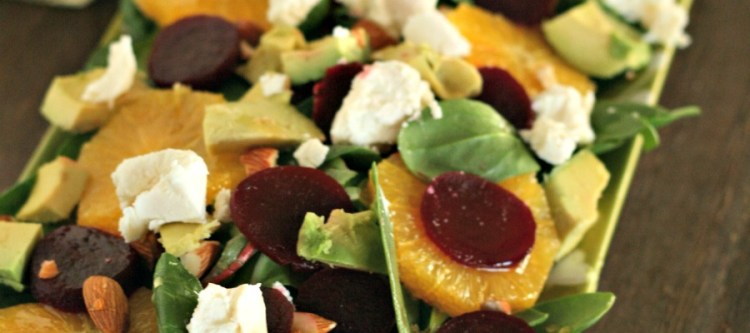 Winter Citrus Salad with Beets & Goat Cheese