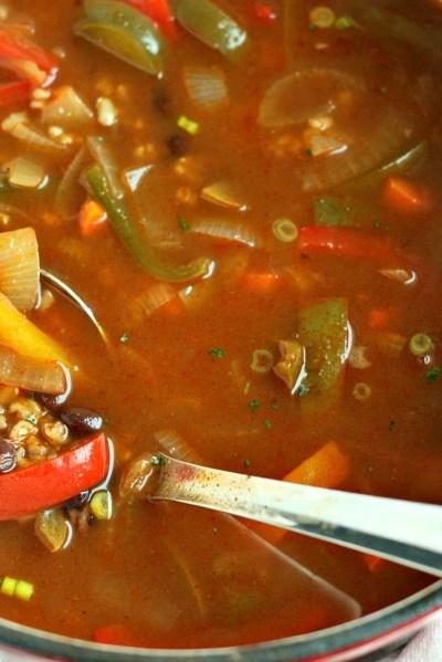Fajita Veggie & Brown Rice Soup