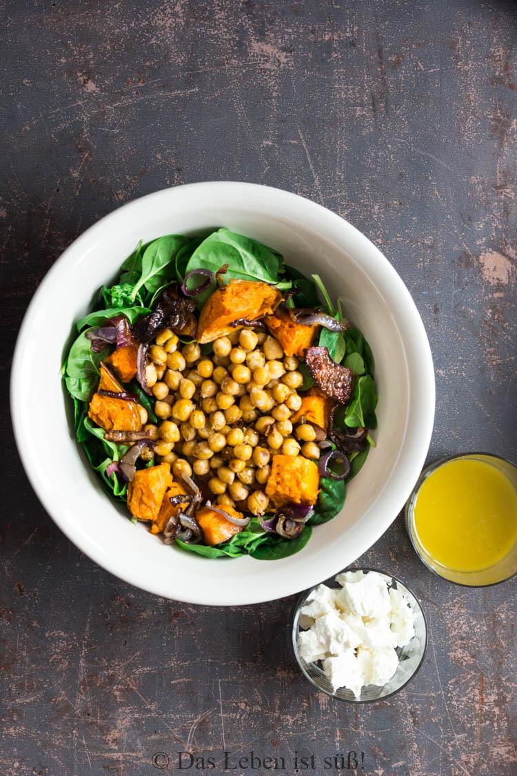 Kichererbsen-Spinat-Salat -2