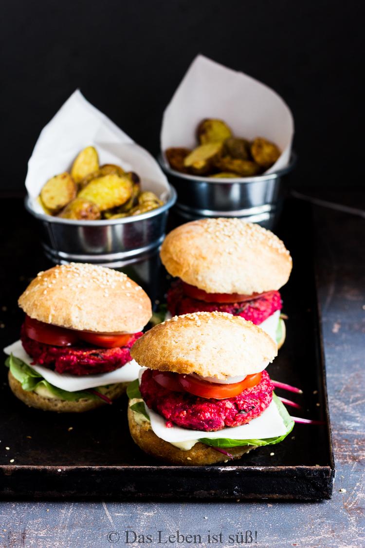 Veggie Burger mit Rote Bete Hirse Bratling (43 von 61)