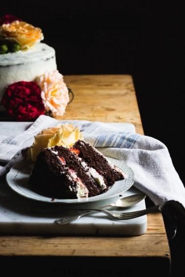 Schoko-Mascarpone Torte mit Erdbeeren (58 von 51)