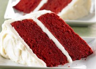 Red Velvet Cake with Vanilla Cream Frosting