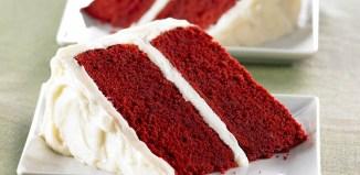Red Velvet Cake with Vanilla Cream Frosting