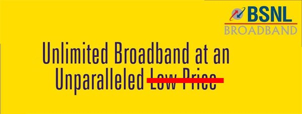 BSNL Hikes Tariff for Unlimited Broadband plans, Withdraws Free Calls to other Network