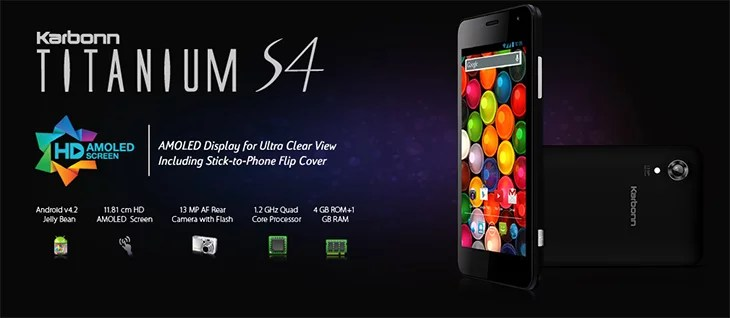 Karbonn Titanium S4 - 4.7inch AMOLED HD display, 13 MP camera & 1.2 GHz Quad Core [Preview]