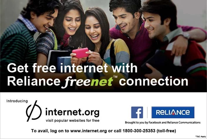 Facebook & RCom brings free access to 33 Indian websites through Internet.org app