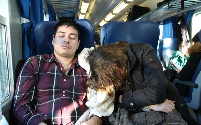Yours truly, and my best friend Alessandra, trying to catch up on some Zzz's while on one of our numerous train commutes throughout Italy.