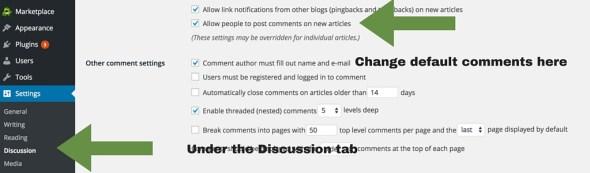 Screenshot 3 - setting up WordPress general settings - comments settings (1)