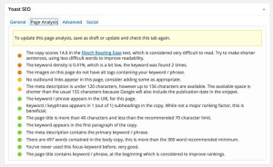 screenshot 24 - posts and pages - Yoast SEO Page Analysis