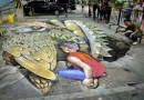 Amazing Chalk Drawing At NCCC Mall Davao Parking Lot