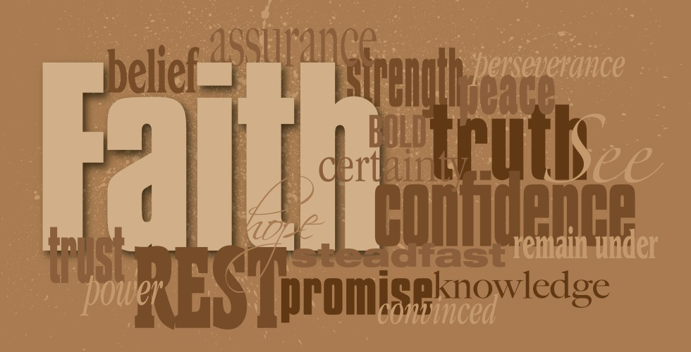 Faith Word Graphic Montage